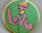 Groovy All You Need is Love Vintage Image 1.25 inch PinbackButton