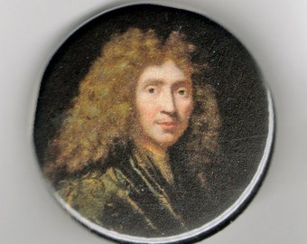 Moliere Playwright Portrait 1.25 inch Button
