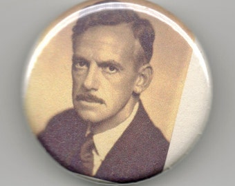 Eugene O'Neill Playwright Portrait 1.25 inch Button