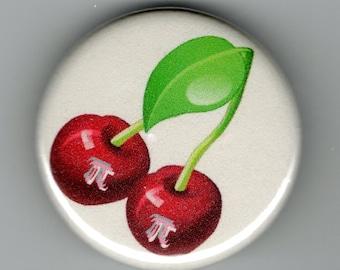 Cherry Pi Geek Humor   1.25 inch Button