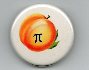 Peach Pi Geek Humor   1.25 inch Button