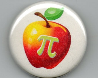 Apple Pi Geek Humor March 14  1.25 inch Button