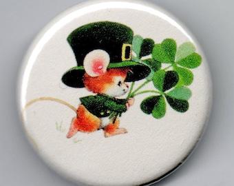Irish Mouse Clover Bouquet  1.25 inch Button