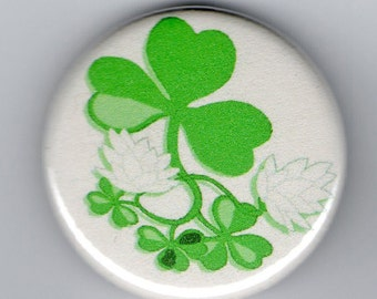 Shamrock In Clover St Patrick's Day  1.25 inch Button