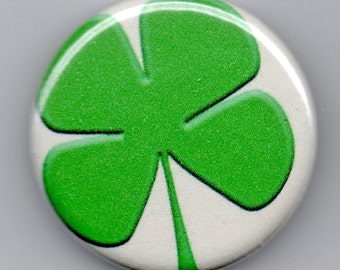 Big Shamrock St Patrick's Day  1.25 inch Button