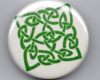 Celtic Knot St Patrick's Day  1.25 inch Button/Pin/Badge