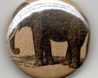 Elephant Vintage Image 1 inch Button/Pin/Badge