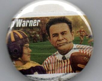 Pop Warner Football Coach 1.25 Pinback Button  US Postage Stamp