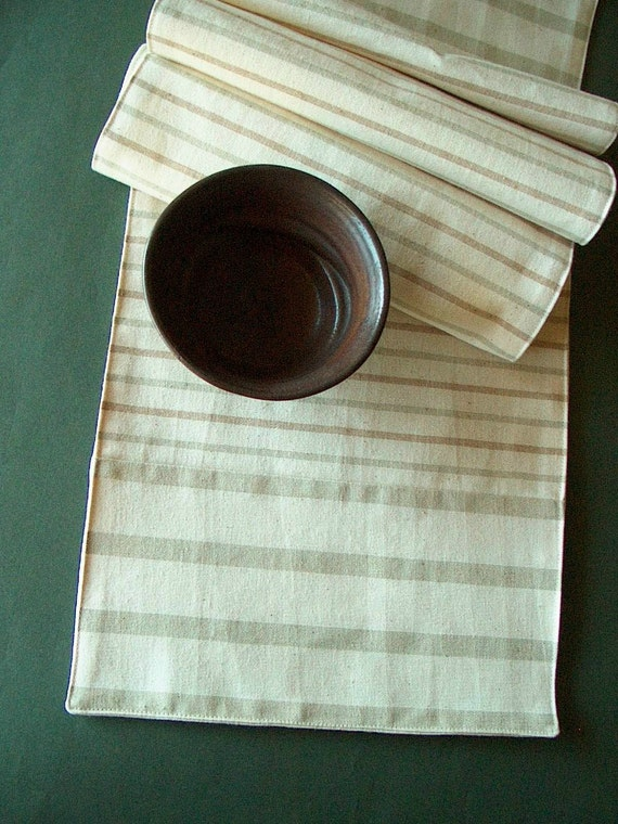 Table Runner- Organic Colorgrown Cotton- 02