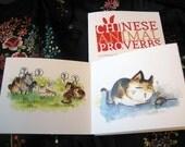 Chinese Animal Proverbs mini accordian zine