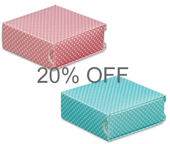 20% OFF Price / Pink blue small Boxes Paper Boxes Gift Boxes 30pcs