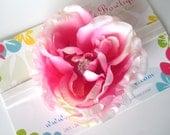 Extra Large Flower Pink with elastic headband