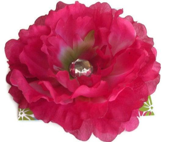 Extra Large Flower Hair Clip dark pink