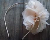 pale silk blossom headband