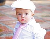 Flat cap golfing hat, white corduroy or linen