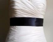 Black Bridal Sash, Black Bridal Belt, Black Wedding Sash, Black Wedding Belt, Bridal Accessories, 2.25 Inch Black Simple Satin Bridal Sash