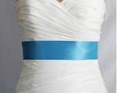 """Ready to Ship Turquoise - 2.25""""  Inch Simple Satin Ribbon"""