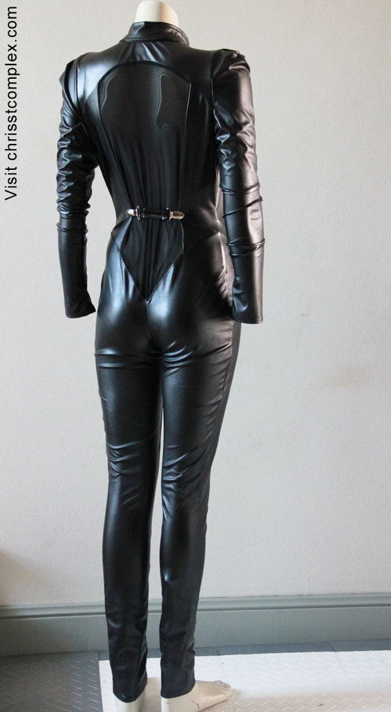 Fashionistas chrisst long sleeve pvc catsuit special sample price