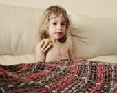 SALE - A Kind of Plaid Blanket - 35% off - Ready to Ship SALE