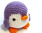 purple penguin plush