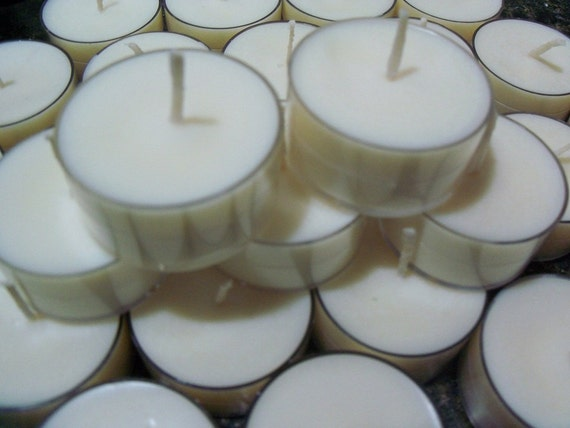 150 Soy Tea Lights, Unscented, Dye Free, Clear Cups, Vegan