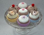 Knitting Pattern - instant download - butterfly cakes, fairy cakes and currant buns