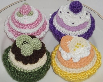 Crochet Pattern - instant download - Crochet Cakes and Tarts