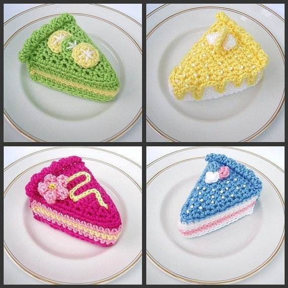 Crochet Cake Slices - pdf pattern by email