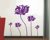 OFL381 Large--easy Instant Decoration Wall Sticker Deco-lotus