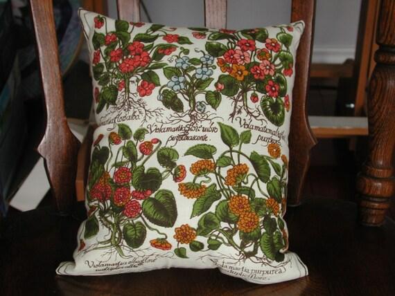 Botanical Print Throw Pillow 10.5 x 12.5