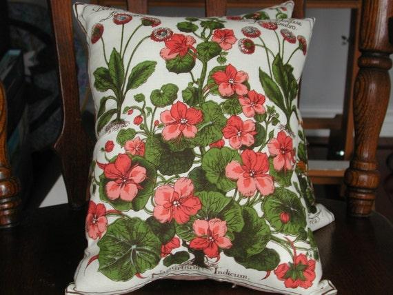 Throw Pillow Botanical Print 10.5 x 12.5
