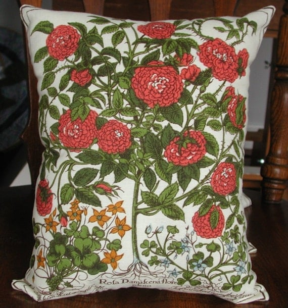 Express shipping Botanical Print Fabric Pillow 10.5 x 12.5