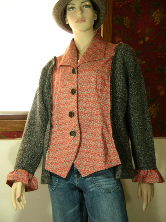 Reconstructed Paisley Cardigan Jacket