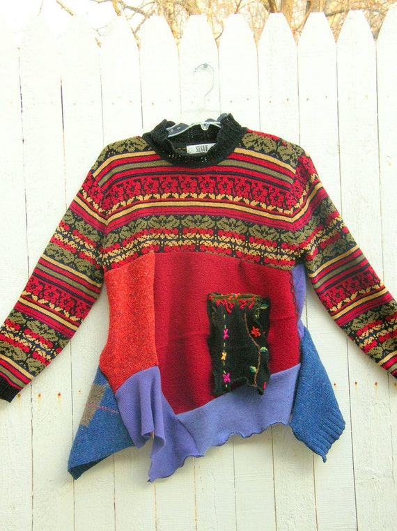 Reconstructed Swing Sweater