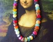 Stone Necklace- Agate Necklace- Rock Necklace- Gemstone Necklace