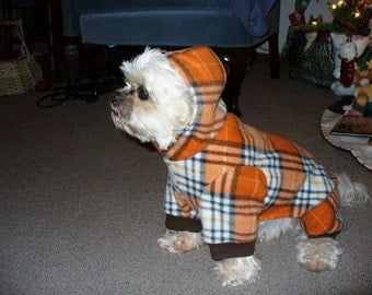 Dog coat hoodie AHT, Shih Tzus and other small dogs, Woofy Wear by Wendy(TM)