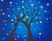 dot dot dotted trees painting 20 x 20 - original
