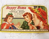 "Vintage ""Happy Home"" Needle Book"