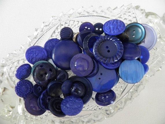 Dark Blue Color Button Lot