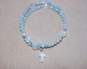 Memory Wire Wrap Around Rosary Bracelet