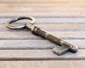 Huge antique vintage french Skeleton Key to my heart - handmade for Steampunk costume Altered Art Mixed Media Assemblage - 5 inches