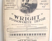 1920s Piano Advertisement Poster