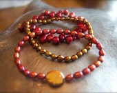 On Fire Pearl Bracelet set