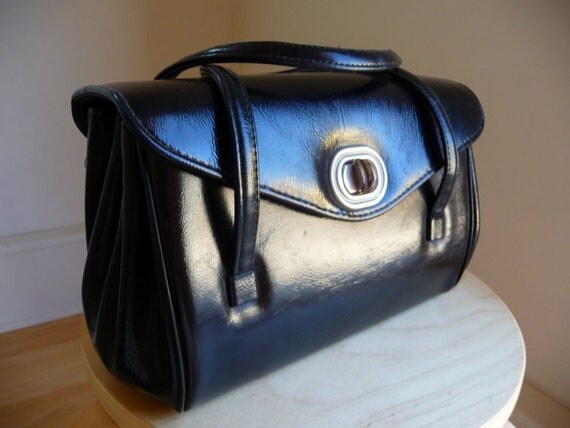 Black Vintage Envelope Style Handbag
