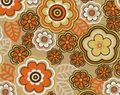 Knit Lycra Fabric Pumpkin Spice fall floral with nice stretch