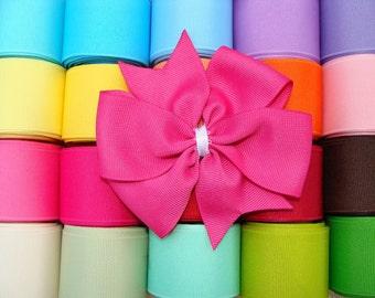 You Pick Colors 4 Large Pinwheel Hair Bows Set