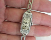 Vintage Olympic Ladies Art Deco Watch Working FREE shipping