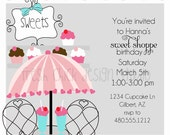 Printable Party Invitation -Sweet Soda Shoppe Collection