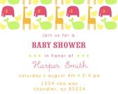 PRINTABLE PARTY INVITATION - Zoo Crew Collection - Girl