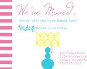 PRINTABLE PARTY INVITATION - New Home Moving Party or Shower Invite - Fresh Chick Designs
